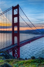 Golden Gate Bridge, San Francisco, California, USA, sunset