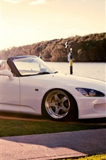 Preview iPhone wallpaper Honda S2000 white supercar