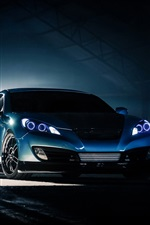 Preview iPhone wallpaper Hyundai Genesis Coupe, blue car