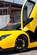 Lamborghini Murcielago yellow supercar