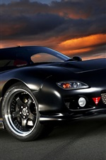 Mazda RX-7 black car