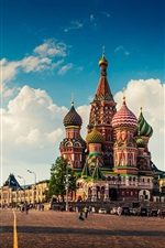Preview iPhone wallpaper Moscow, Red Square, city landscape