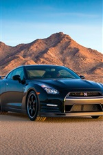 Preview iPhone wallpaper Nissan GT-R 2014, Track Edition, black supercar