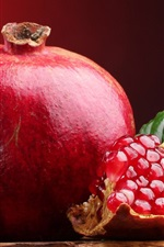 Preview iPhone wallpaper Sweet red fruit, pomegranate