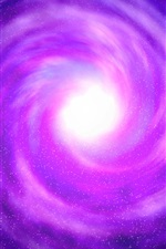 Preview iPhone wallpaper Violet, space, black hole, stars