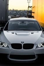 BMW M3 E92 white car front view