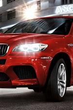 BMW X6 red car