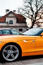 미리보기 iPhone 배경 화면 BMW Z4 오렌지 자동차