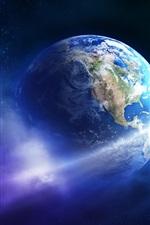 iPhone обои Красивая Земля, планета, астероид, комета
