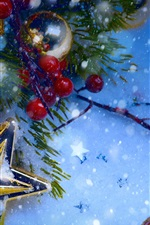 Preview iPhone wallpaper Christmas decorations, snow, winter