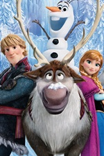 Preview iPhone wallpaper Disney cartoon movie, Frozen