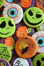 Preview iPhone wallpaper Halloween cookies