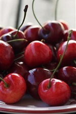 Preview iPhone wallpaper One dish food, red cherry, fruit
