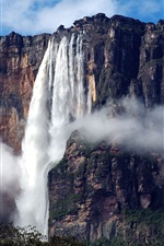Preview iPhone wallpaper South America, Venezuela, Canaima National Park, waterfall, Angel Falls
