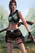 Preview iPhone wallpaper Tomb Raider, Lara Croft, art picture