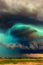 Preview iPhone wallpaper USA, Arizona, storm clouds, sky