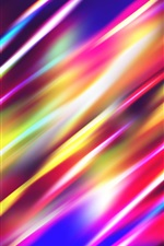 Abstract light lines, highlight, streaks, colorful