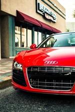 Audi R8 V10 Spider red supercar