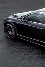 Preview iPhone wallpaper Bentley Continental GT ONYX black car back view