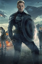 Preview iPhone wallpaper Captain America 2