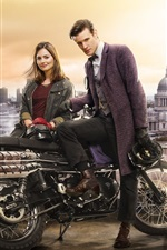 Preview iPhone wallpaper Doctor Who, Matt Smith, Jenna-Louise Coleman