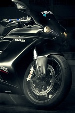 Preview iPhone wallpaper Ducati 848 Evo black motorcycle