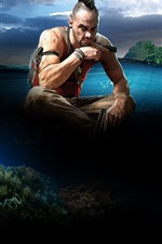 Preview iPhone wallpaper Far Cry 3, sea, island, Ubisoft game