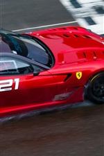 Preview iPhone wallpaper Ferrari 599XX EVO red supercar