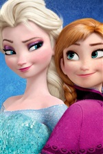 Preview iPhone wallpaper Frozen, Disney movie, Anna, Elsa, sisters
