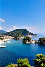 Preview iPhone wallpaper Greece, sea, islands, coast, city
