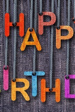 Preview iPhone wallpaper Happy Birthday, jeans, colorful