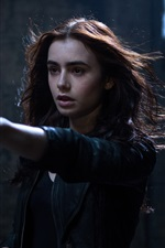 Preview iPhone wallpaper Lily Collins, The Mortal Instruments: City of Bones