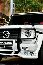 Mercedes-Benz G55 Hamann white car