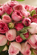Preview iPhone wallpaper Pink rose flowers, beautiful bouquet