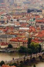 Prague, Czech Republic, Charles Bridge, Vltava River, buildings