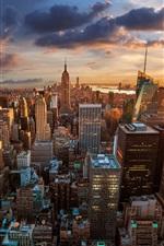 Preview iPhone wallpaper Rockefeller Center, skyscrapers, dawn, metropolis, New York City