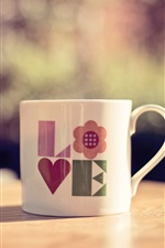 Preview iPhone wallpaper Still life, cup, love