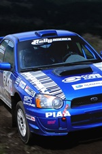 Subaru Impreza blue Rally sport car