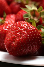 Preview iPhone wallpaper Sweet fruit, berry, strawberry, plates