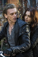 Preview iPhone wallpaper The Mortal Instruments: City of Bones, Lily Collins, Jamie Campbell Bower