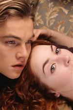 Vorschau des iPhone Hintergrundbilder Titanic, Leonardo DiCaprio, Kate Winslet
