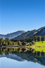 Preview iPhone wallpaper Tyrol, Austria, lake, mountains, forest, water reflection