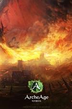 ArcheAge, dragão, fogo, aldeia
