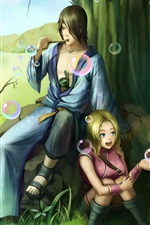 Preview iPhone wallpaper Art pictures, Naruto, girl with boy