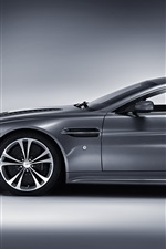 Aston Martin V12 Vantage silver car