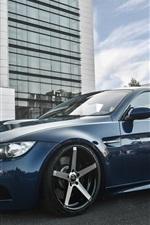 BMW E92 M3 Deep Concave blue car
