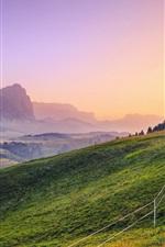 Preview iPhone wallpaper Beautiful landscape, sunlight, mountains, grass