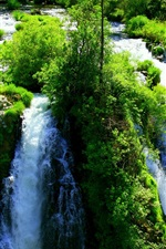 Preview iPhone wallpaper Beautiful waterfalls, greens, nature