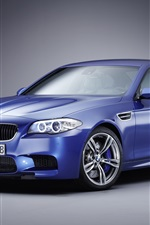 Preview iPhone wallpaper Blue BMW M5 car