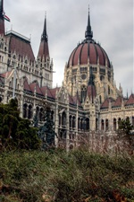 Preview iPhone wallpaper Budapest city, Hungary, parliament, building